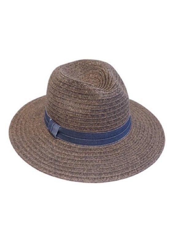Facinie Heathered straw Panama hat