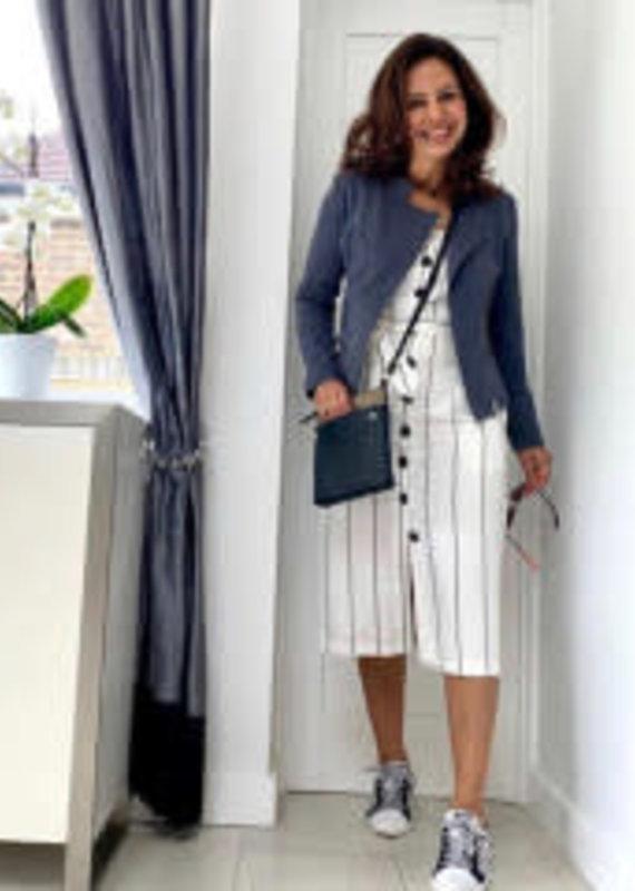 Great Plains Santa Fe stripe button dress