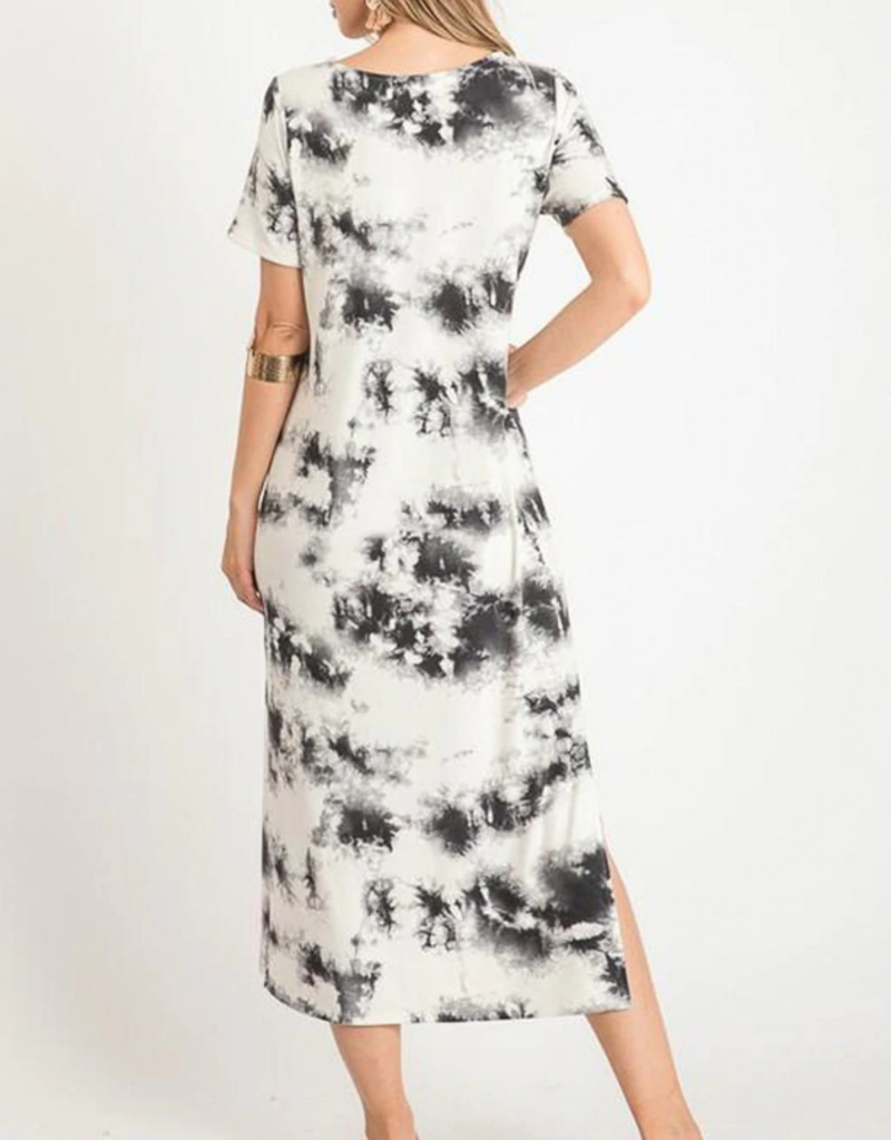 First Love First Love Tie Dye Maxi with slit