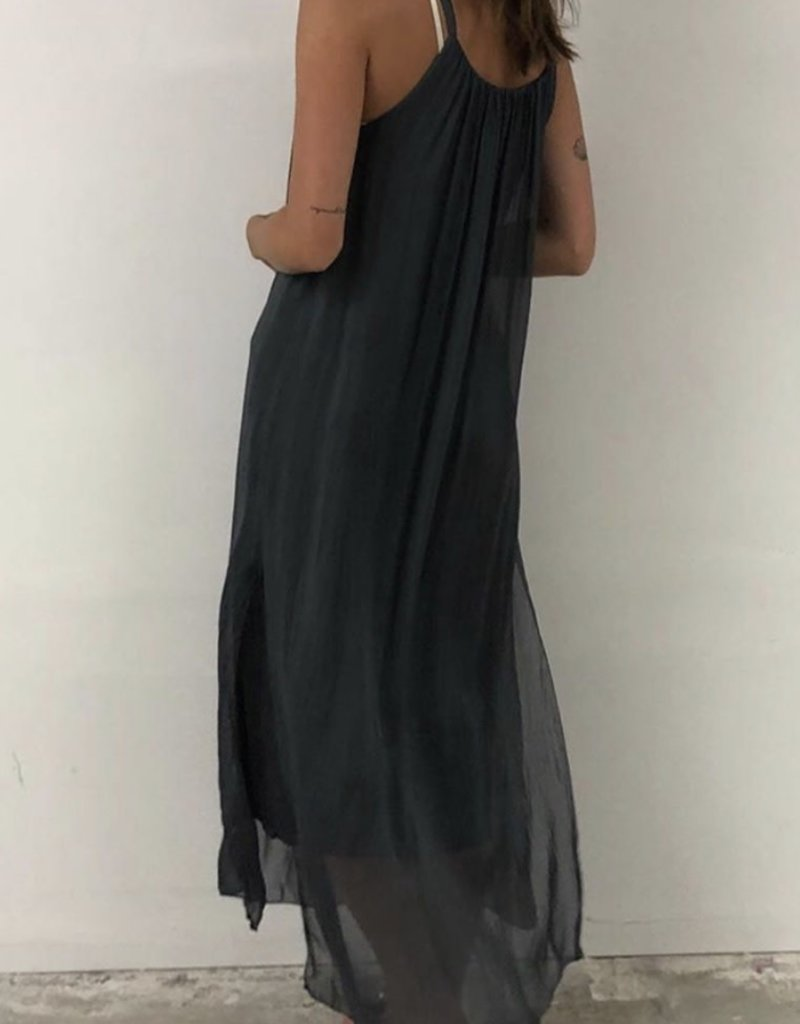 Meo Meli Meo Meli Two layered maxi dress