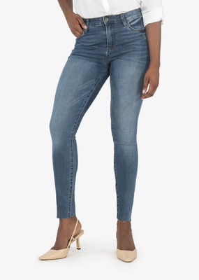 KUT Mia High Rise Ankle skinny raw hem