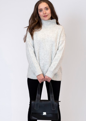 Lyla & Luxe Cosmo Mock Neck Ribbed sweater