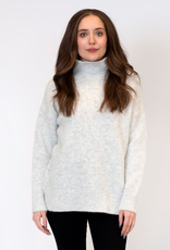 Lyla & Luxe Lyla Cosmo Mock Neck Ribbed sweater