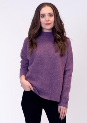 Lyla & Luxe Sam Heather mock neck sweater