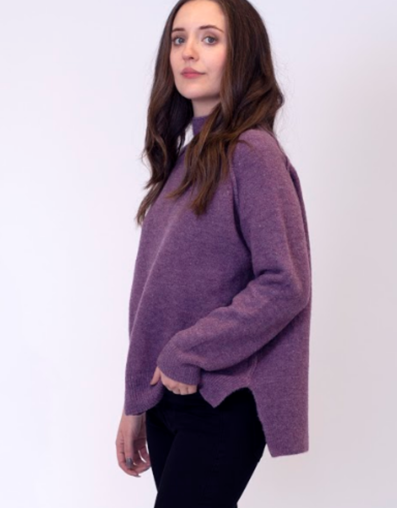 Lyla & Luxe Lyla Sam Heather mock neck sweater