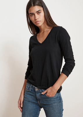 Velvet Blaire LS v-neck top