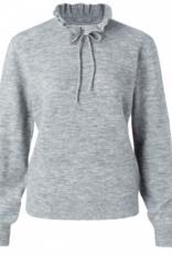 YaYa Yaya sweater with ruffled neck