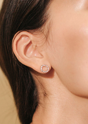 Lover's Temp Halo Stud Earrings