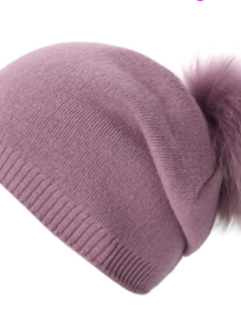 PNYC PNYC Evelyn Slouch Beanie Natural Fur