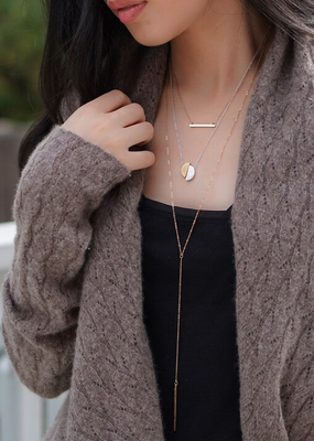 JJ+RR Covet Double Layer Bar Necklace