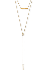 JJ+RR JJ+RR Covet Double Layer Bar Necklace