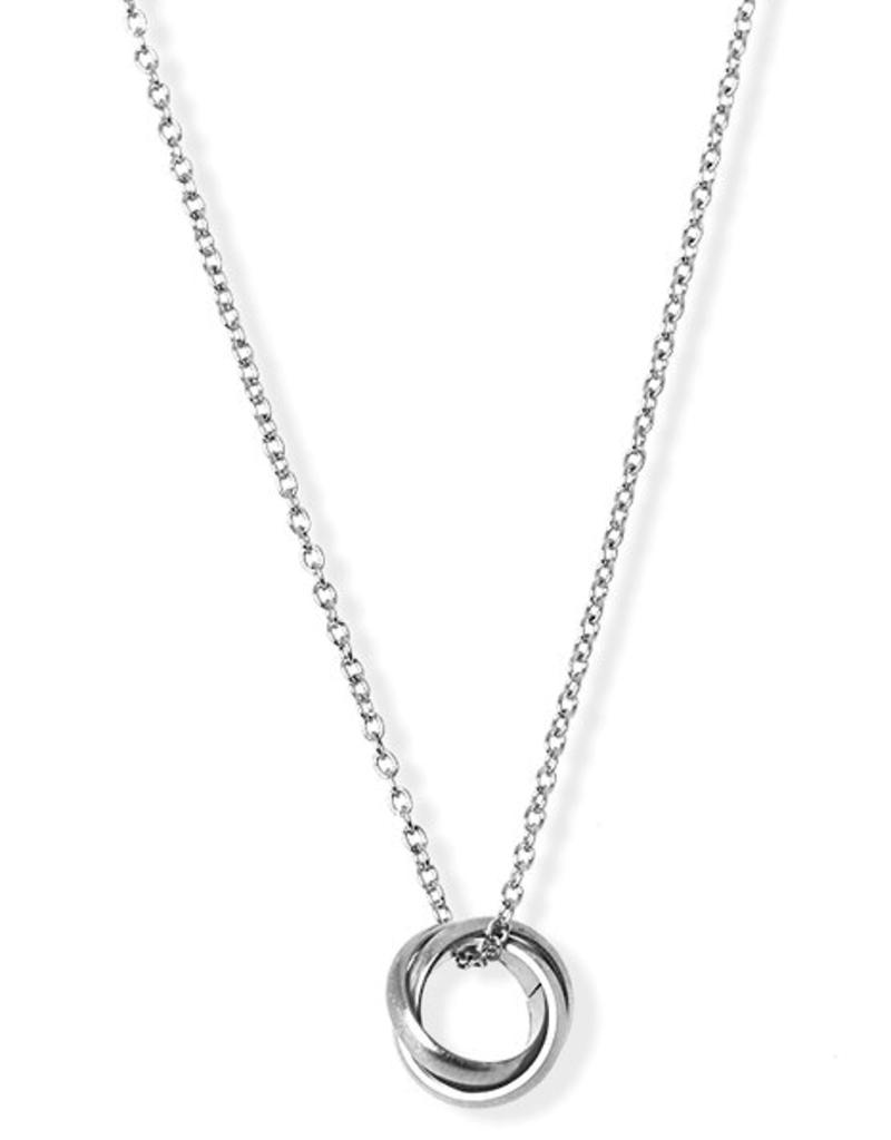 JJ+RR JJ+RR Brushed Triple Ring Necklace