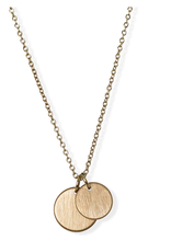 JJ+RR JJ+RR Brushed Double Disc Necklace