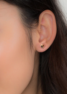 JJ+RR Folded Heart Earring