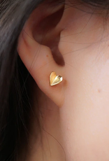 JJ+RR JJ+RR Folded Heart Earring