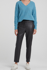 YaYa Yaya Faux leather relaxed fit pant