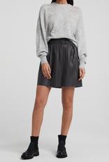 YaYa Yaya Faux leather mini skirt with pleats