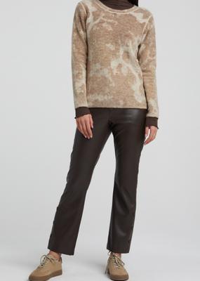 YaYa Round neck print sweater