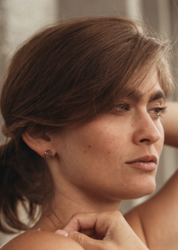 Brass & Unity Stud Finder earrings