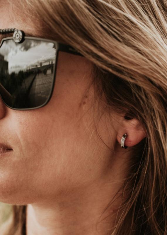 Brass & Unity Mini Unity  Hoop earrings