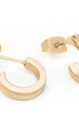 Brass & Unity Brass & Unity Mini Unity  Hoop earrings