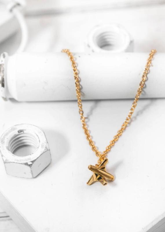 Brass & Unity Mini Hedgehog Necklace