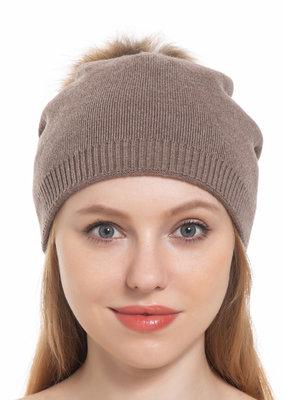 Pathz Slouchy hat with Fox Pom