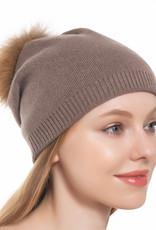Pathz Pathz Slouchy hat with Fox Pom