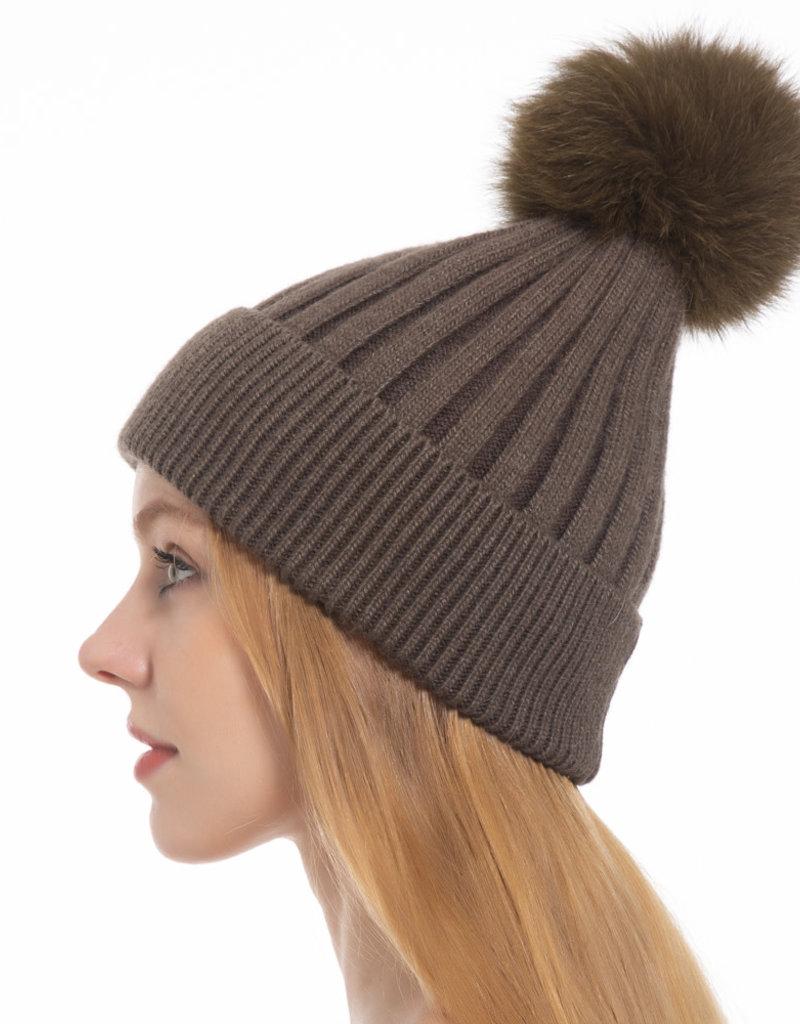 Pathz Pathz Single Fox Pom Hat