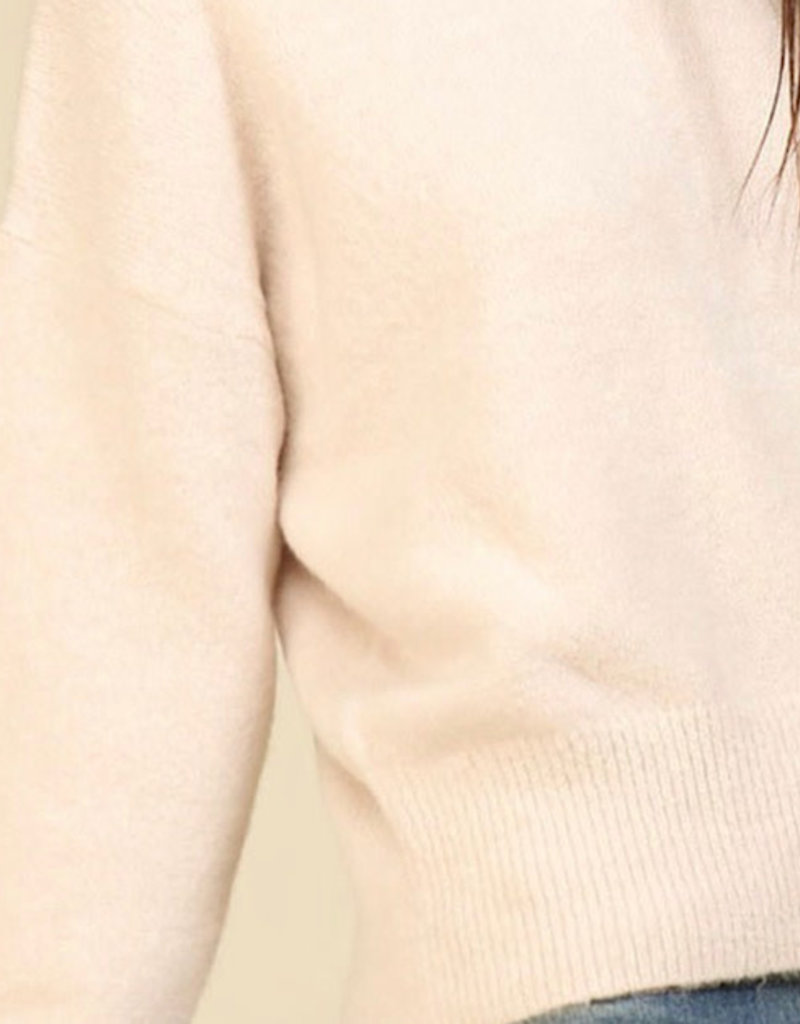 Lumiere Lumiere solid knit sweater
