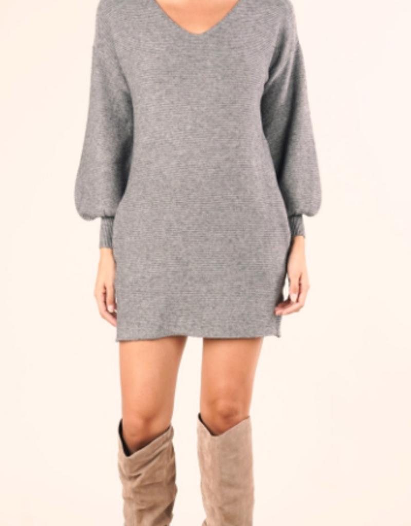 Lovestitch Lovestitch Knit LS Mini Sweater Dress