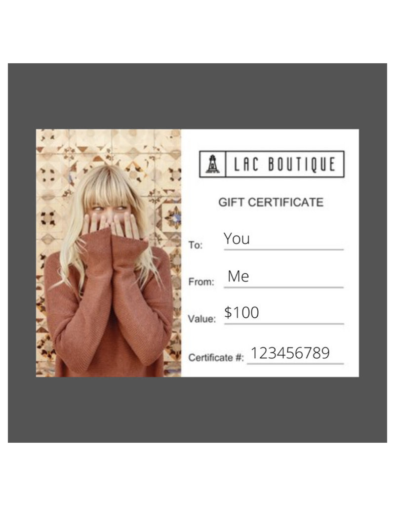 Lac Boutique Gift Card