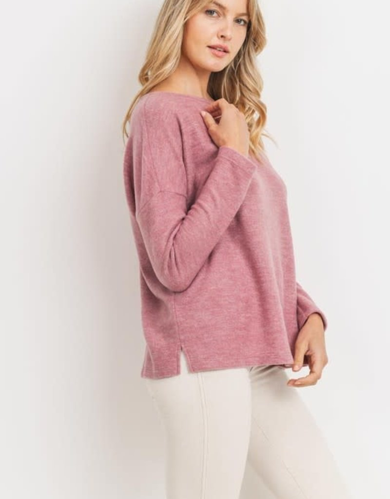 Cherish Cherish Brush Knit Top
