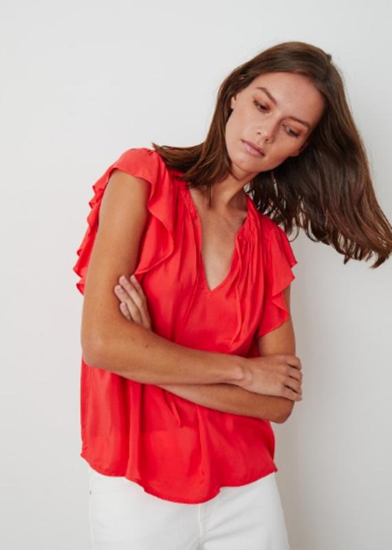 Velvet Eavan challis flutter sleeve blouse