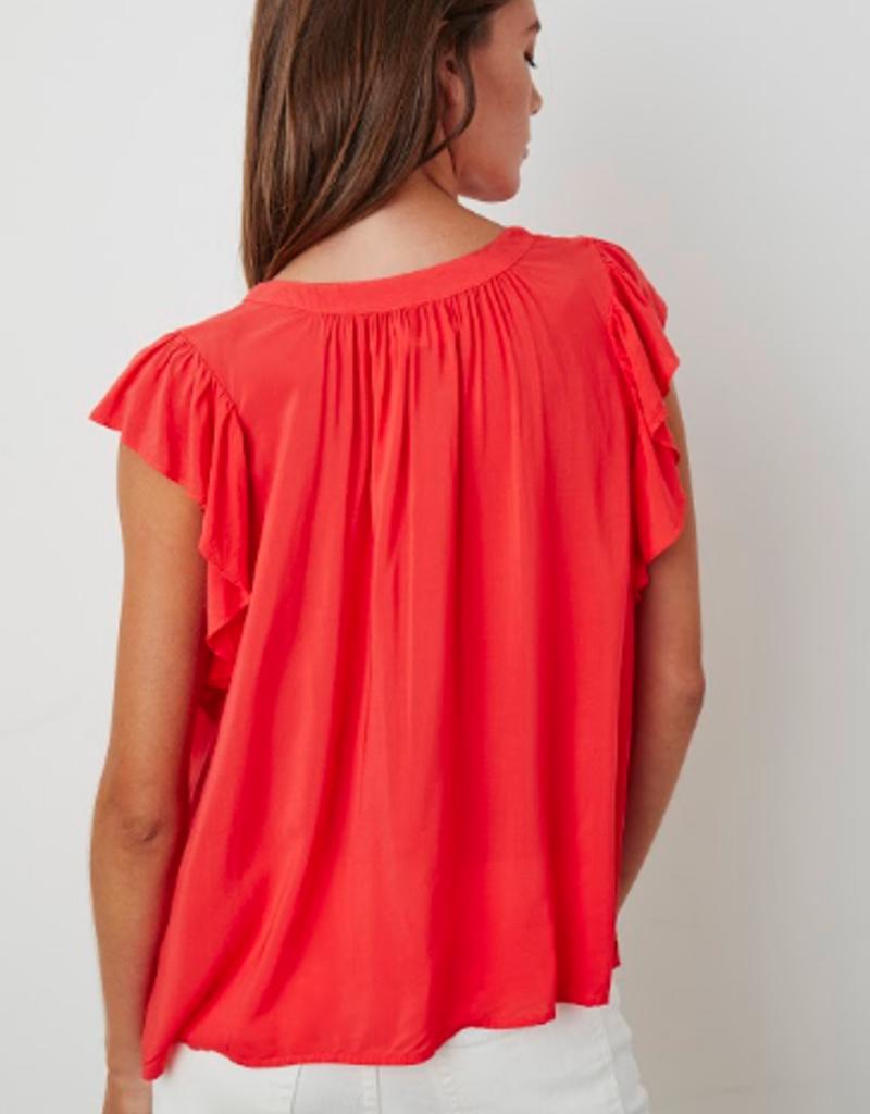 Velvet Velvet Eavan challis flutter sleeve blouse