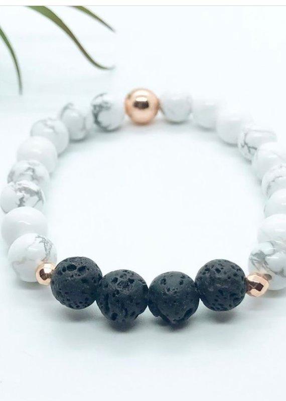 Stone stackable bracelets
