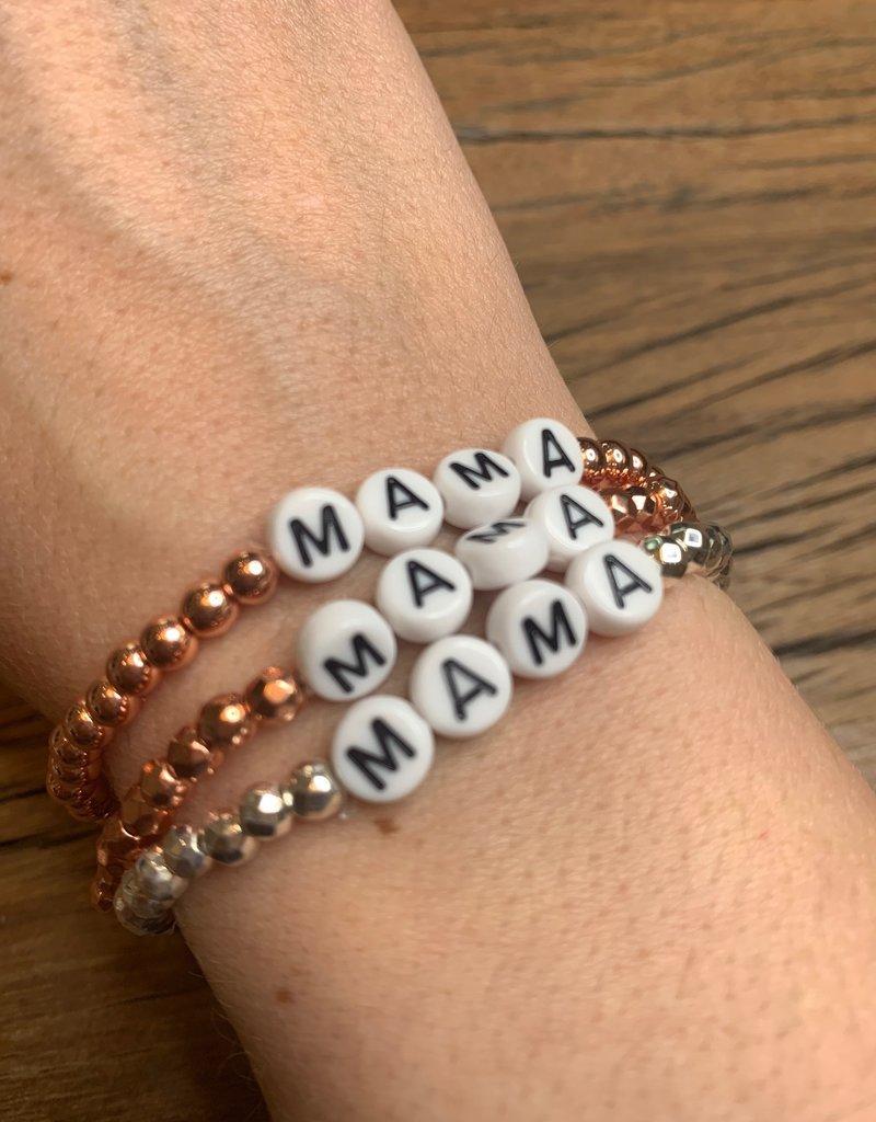 Letters Mama Stackable bracelets