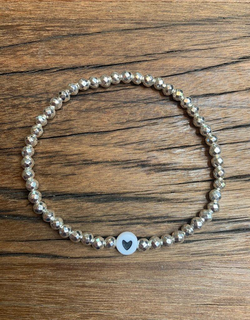 Heart Stackable bracelet