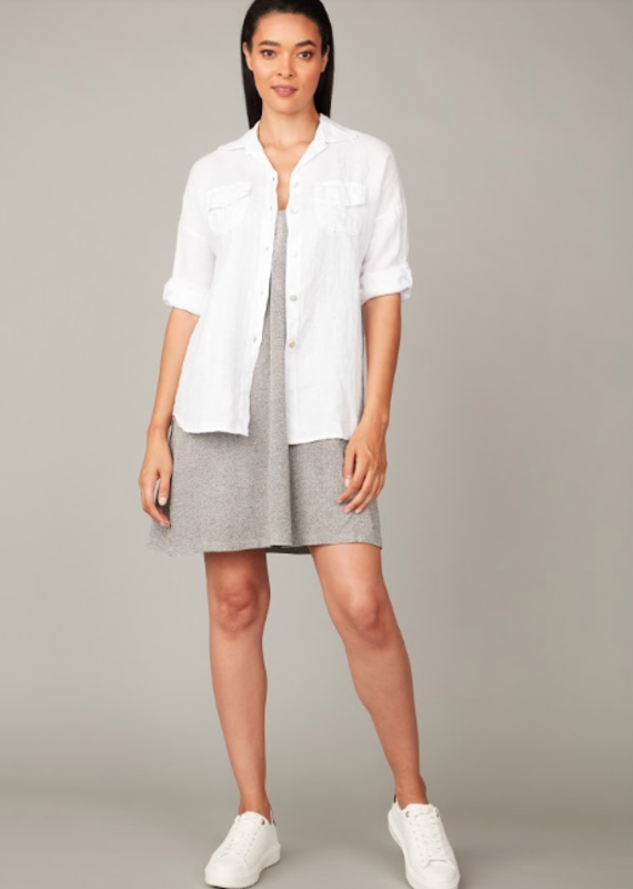 Pistache Double pocket blouse
