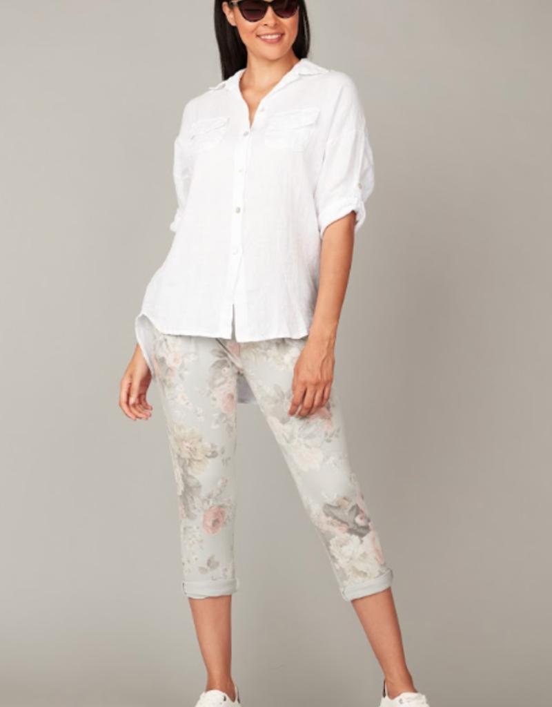 Pistache Pistache double pocket blouse