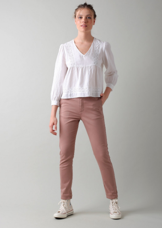 Indi & Cold Embroidered crop blouse