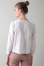 Indi & Cold Indi & Cold Embroidered crop blouse