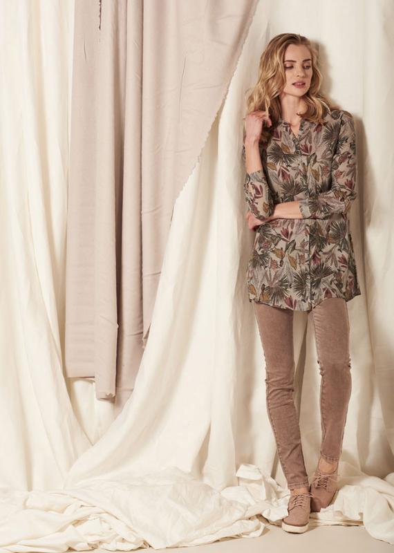 Nile Print tunic blouse