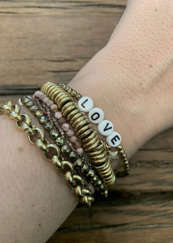 Love Stackable bracelets