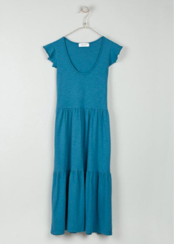 Indi & Cold Long ruffle tshirt dress