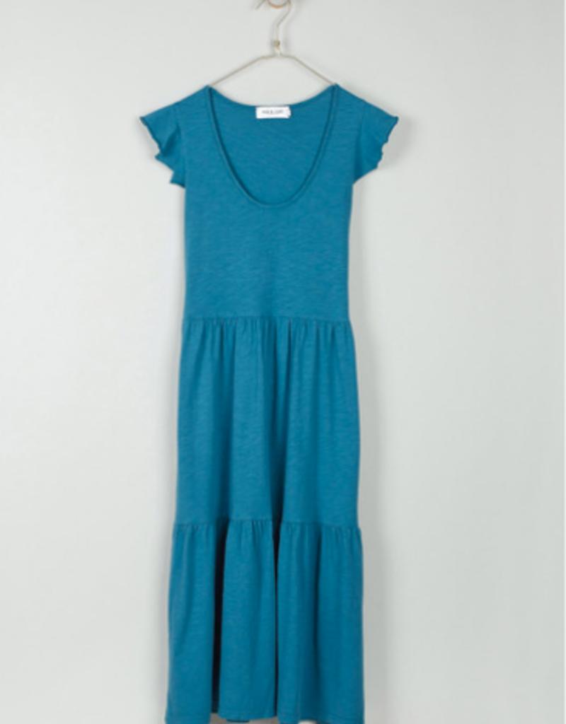 Indi & Cold Indi & Cold Long ruffle tshirt dress