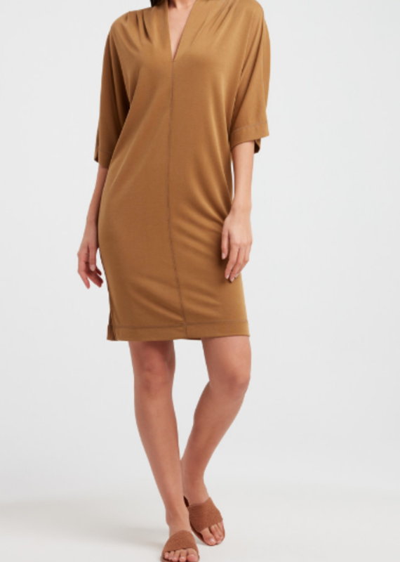 YaYa Jersey v-neck dress