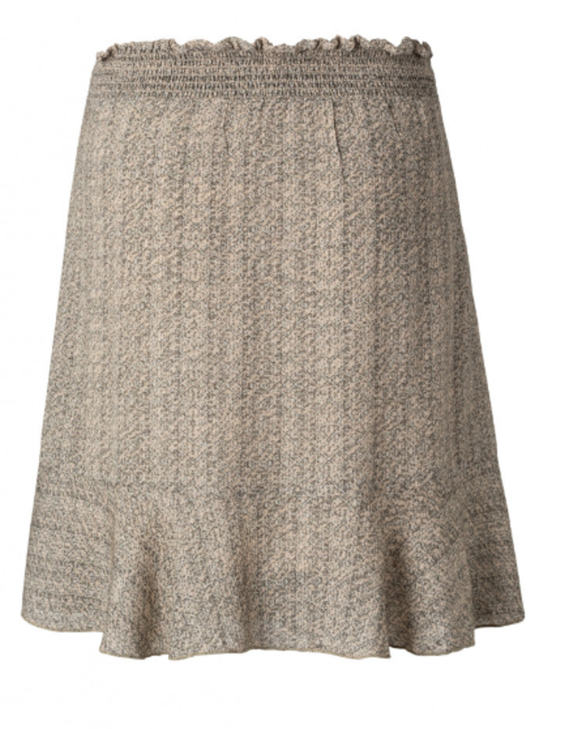 YaYa Yaya Printed mini skirt with faux wrap effect