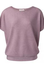 YaYa Yaya Silk blend sweater w rib detail