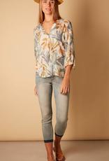 Nile Nile Leaf blouse 3/4 slv
